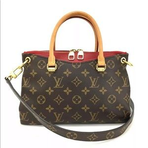 Louis Vuitton Monogram Pallas BB Hand Bag + Strap